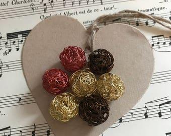 Lot mini multicolor wire balls
