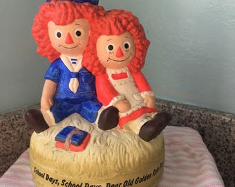 Raggedy Ann and Andy School Days Music Box