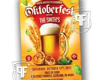 Oktoberfest Invitation - Octoberfest Invitation - Oktoberfest Party - Oktoberfest Invites