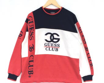 Rare!!! Vintage Guess Club Big Spell Out Colour Block