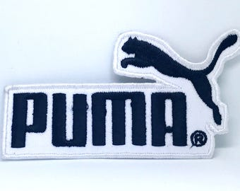 2179# Puma Sports Brand new Iron or Sew on Embroidered Patch (Black on White)