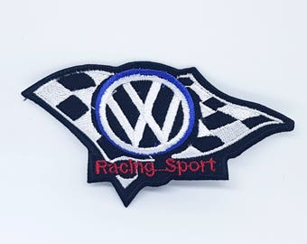 2053# MOTORSPORTS RACING CAR Volkswagen Embroidered Iron on Patch Applique