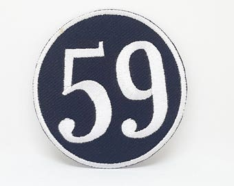 348# 59 (Fifty Nine) Rockers Ton Up Rockabilly Iron/Sew on EMBROIDERED PATCH