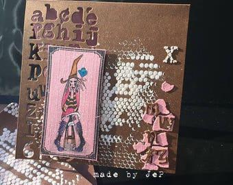 card fairy mixed media for a nice teen ;-)