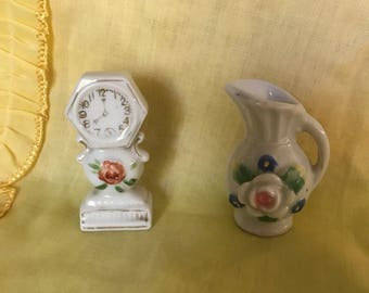 Set of two Miniature Pieces, Japan & Occupied Japan.