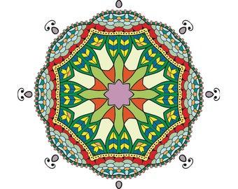 Mandala Round Floral Ornament