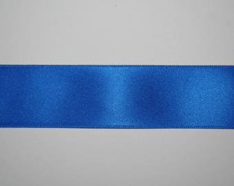 Satin Ribbon Double sided blue electric 2,5 centimeters x 1 meter
