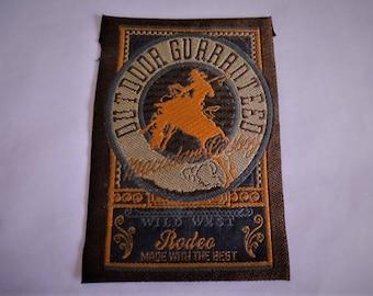 vintage Rodeo Wild West cowboy brown orange for customization 320 T sewing applique