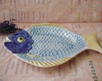 Vintage ceramic,fish form platter,plate,tray
