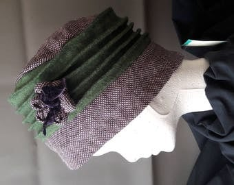 Green and purple Hat