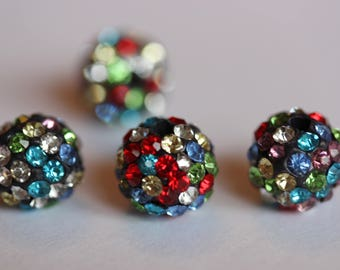 ❤ Beautiful multicolored Crystal Shamballa bead