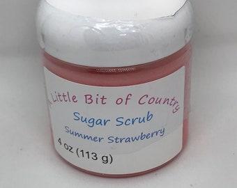 Summer Strawberry Sugar Scrub