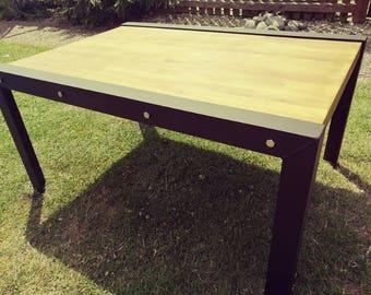 custom made industrial coffee table