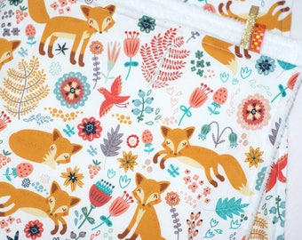 baby Fox blanket fall leaves