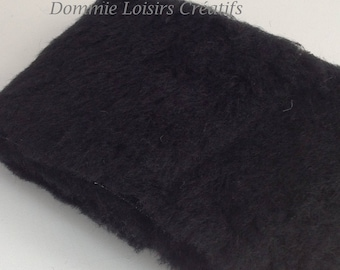 Fabric faux fur 150 x 10 black