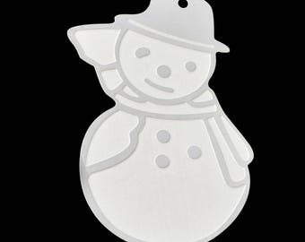 2 snowmen fine pendants, stainless steel