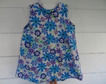 Multicolor cotton 12 months, trapeze dress