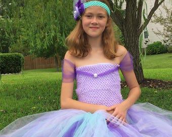 Little girls Tulle Dress,  Mermaid party dress, Fancy Mermaid dress