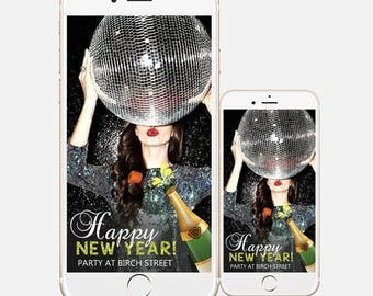 new year 2018 snapchat geofilter ugly sweater filter happy holidays diy customized custom personalize xmas holiday