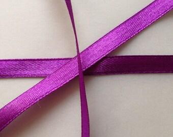 4 / set 22 meters 6mm purple satin ribbon