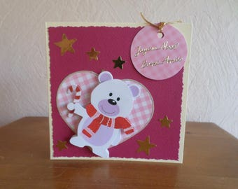 bear with heart 3D greeting card