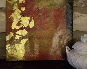 Gold Leaf Abstract