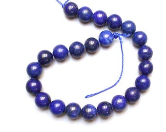 12 genuine 8 mm lapis lazuli beads