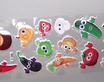 Emoticons fruit stickers.