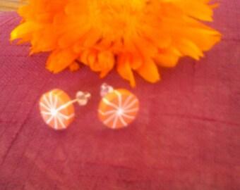 Orange kids Stud Earrings