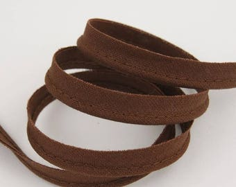 4 m 10mm chocolate brown cotton piping
