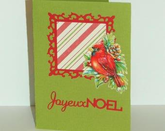 "Greeting card ""Joyeux Noël"" - series relief animals"