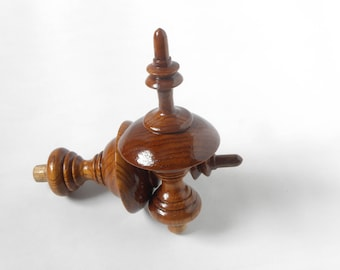 Newel posts etsy for Wooden finials for crafts