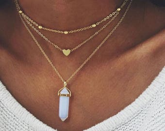 Khloe's Alloy Choker Pendant Necklace