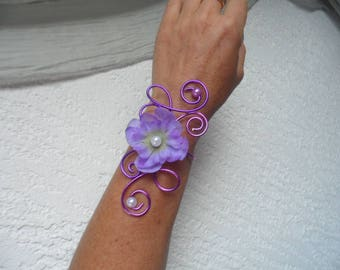 Bridal bracelet - purple violet and purple