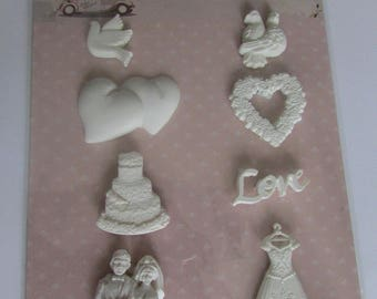 Figurines adhesive theme wedding