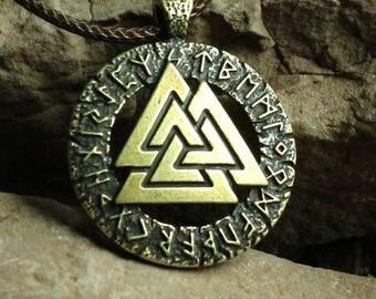 Slavic Norway Valknut Pagan Amulet Pendant  Necklace