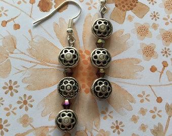 Silver stack earrings