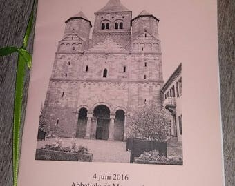 Booklets mass for wedding, baptism, etc...