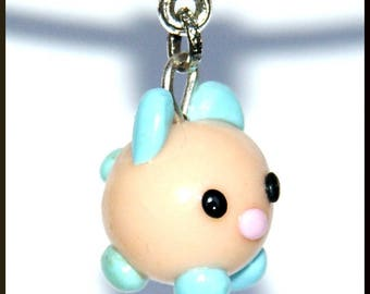 Blue chip fourth legs kawaii baby pendant necklace.