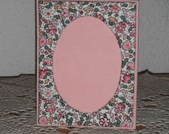 Cardboard picture frame / liberty cotton