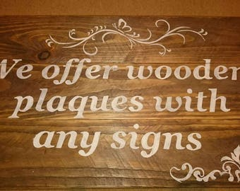 Rustic wood  wedding any signs plaques decor aisle seating signs for wedding