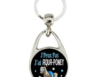 "Keyring ""I can't I have aqua pony"""
