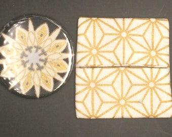 Mandala pattern Pocket mirror and matching wallet