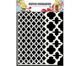 Stenciled Dutch Doobadoo Mask Vintage A5 New Stencil Art