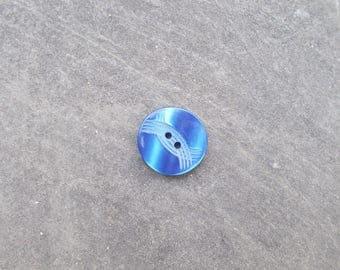 Fancy blue 18mm button