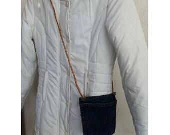 Satchel bag jeans pocket blue jean by BAGART jean denim clutch bag