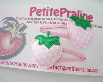 Strawberry Hair clips barrettes - Choose your color