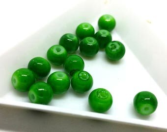 x 10 beads 6 mm - United - colors to choose - glass