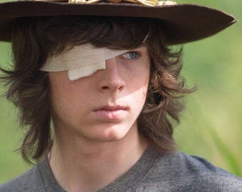 The walking dead carl grimes green background 24 x 36 poster