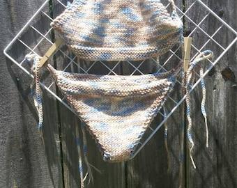 Handmade knit bikini